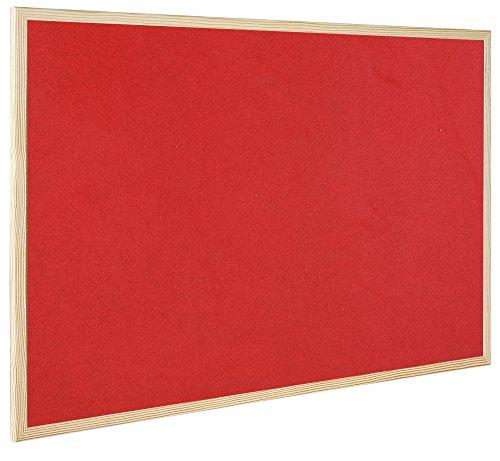 Bi-Office dubbelsidig anslagstavla med kork och filt, röd, 90 x 60 cm