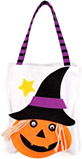 Halloween Trick or Treat Candy Bag,Halloween Craft Party Gift Bags Favor Gift Bags for Kids Adults Birthday Party Gift Tote Bags for Halloween Party Decorations Large Shopper Carry Pouch