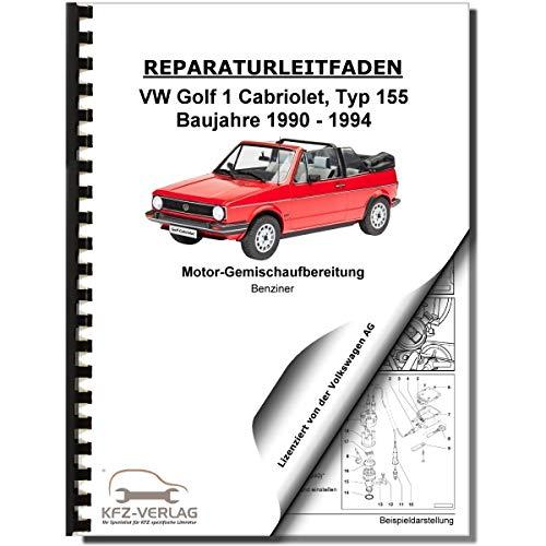 VW Golf 1 155 Cabrio 90-94 Digifant Zünd/Einspritzanlage 1,8l Reparaturanleitung