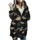 Vexiangni Abrigo largo con capucha para mujer, chaqueta de invierno, chaqueta de invierno cálida con cremallera completa, chaqueta de piel para mujer, abrigo de felpa, chaqueta de exterior