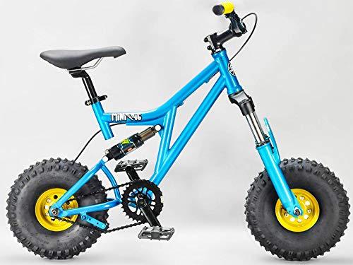 Rocker BMX Mini Rig Downhill Bike Blaugrün Wählen Sie Griffe und Räder Farbe, MINIRIGTEAL, gold