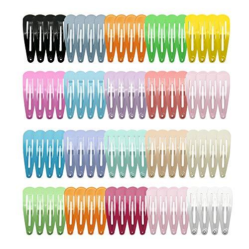 Shogpon Pinza de Pelo Bebe Niñas Horquillas de Pelo Infantiles, 80 Piezas de Pinzas de Metal Antideslizantes Para el Cabello, Accesorios para el Cabello para Niñas (2 Pulgadas, 18 Colores)