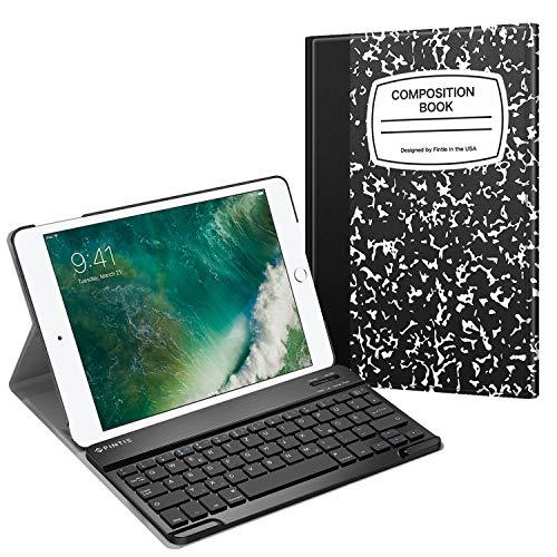 Fintie Tastatur Hülle für iPad 9.7 Zoll 2018 2017 / iPad Air 2 / iPad Air - Ultradünn leicht Schutzhülle Keyboard Case mit magnetisch Abnehmbarer drahtloser Deutscher Bluetooth Tastatur, Notizblock