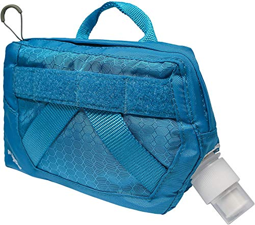 Kurgo Dog Hydration Flask | Detachable Molle Compatible Water Pouch | Attachable Pouch for Dog Molle Harness | Service Dog Harness Attachment | Rsg Flask (Coastal Blue)