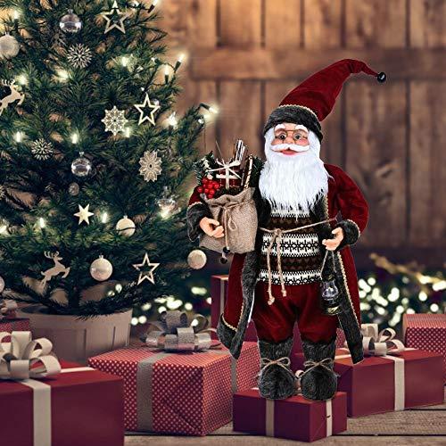 Caiyin Weihnachtsmann Weihnachtsmann Figur Puppe, Weihnachtsmann Weihnachtsfigur Figur Dekoration, Weihnachtsschmuck Für Wohnkultur | 11,8 '' |