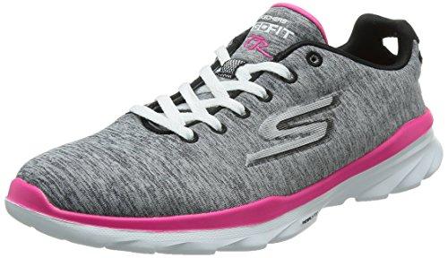 Skechers Go Fit TR Stellar Joggingschuhe Damen Fitnessschuhe GOGA Mat grau, Schuhgröße:EUR 37