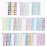 PMSMT 54 Stück/Packung Emaille Dot Sticker Sugar Sprinkles Selbstklebendes Harz Sortiert für DIY Scrapbooking Fotoalbum Card Crafts Decor