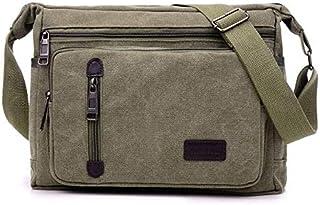 حقيبة كتف/حقيبة طويلة تمر بالجسم فاشون من القماش زيتية -رجال