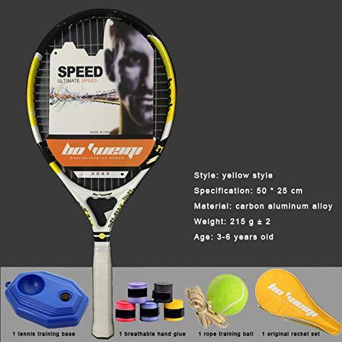 MLPNJ Jugend Kinder Tennisschläger Aluminium Carbon Jungen und Mädchen 3-14 Jahre alt ultraleichte Tennisschläger