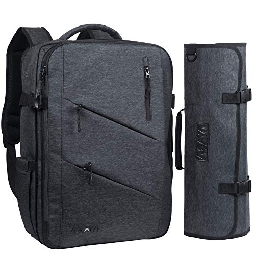 Asaya Chef Knife Backpack with 20 Pocket Knife Roll Bag - Over 30 Pockets for Knives and Kitchen Utensils - Stain Resistant Waxed Nylon - Padded for Extra Protection - Knives Not Included (Black)