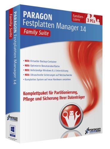 Preisvergleich Produktbild Paragon Festplatten Manager 14 Family Suite