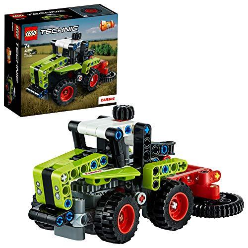 LEGO42102TechnicMiniCLAASXERIONTraktor&Feldhäcksler,2-in-1Bausatz,SammlungvonSchwerlastfahrzeugen