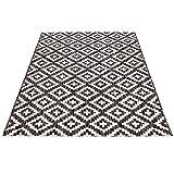carpet city Outdoor-Teppich Wetterfest Balkon Terrasse Modern Geometrisches Muster in Anthrazit; Größe: 160x230 cm - 5