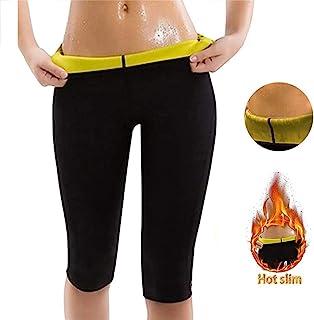 Women Neoprene Sauna Sweat Shorts Weight Loss Leggingsfor Fat Burning High Waist Body Shaper, Fits Swimming Sauna Yoga Gym...
