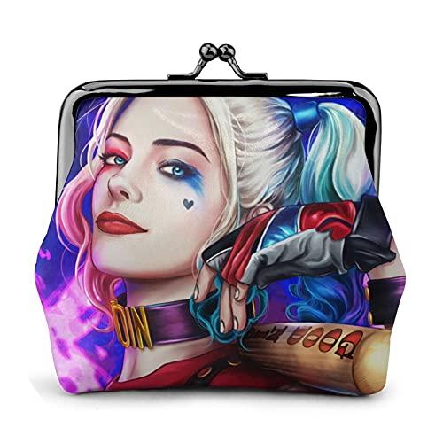 El monedero de la muchacha del payaso Harley Quinn tiene un exquisito tridimensional cierre de beso pequeño monedero puede sostener la tarjeta de crédito del cambio clave de las mujeres