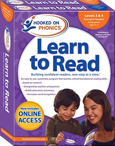 Hooked on Phonics Learn to Read - Levels 3&4 Complete: Emergent...