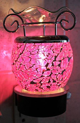 Decorative Electric Plug-in Fragrance Lamp Aromatherapy Oil Warmer/Burner in Gift Box (Dark Pink)