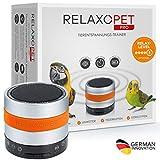 RelaxoPet Tierentspannungs-Trainer PRO   Version 2020   Für Vögel   Beruhigung durch Klangwellen   Ideal bei Gewitter, Alleinsein oder Federrupfen   Hörbar und unhörbar