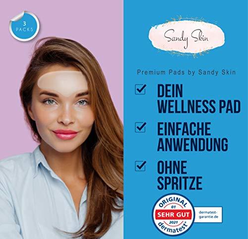 2in1 Sandy Skin® | 2x Stirn Pad & GRATIS 1x Augen Pads | Stirnpad | Augenpads Faltenreduktion | Zornesfalten | Stirnfalten Anti-Falten Pads | Stirn-falten Reduktion | Stirnpads gegen Falten