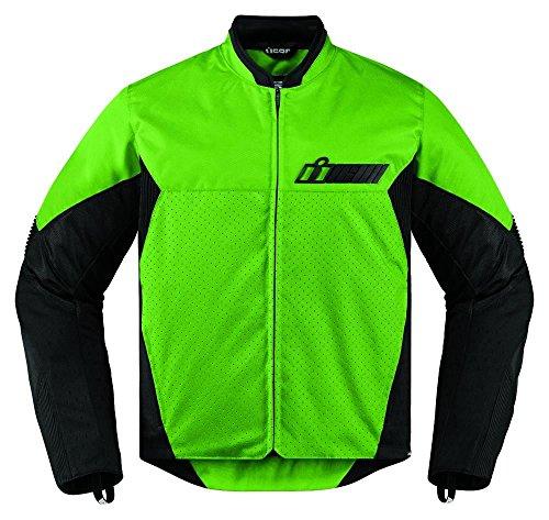 Icon Chaqueta de moto verde Konlict