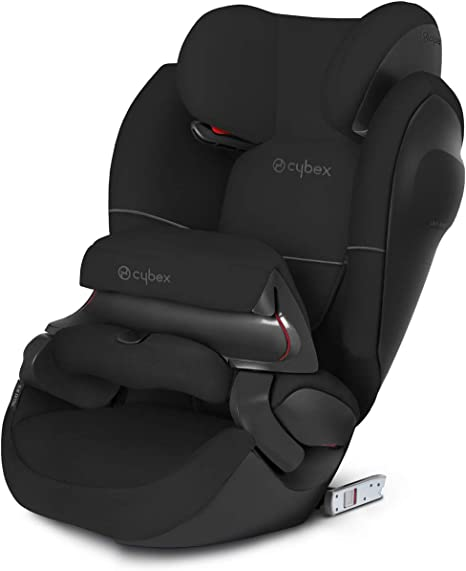 Cybex Silver Pallas M-Fix SL, 2-in-1 Child's Car Seat, High Back Booster, Adjustable Impact Safety Shield and ISOFIX Compatible, Group 1/2/3 (9-36 kg),From Approx 9 Months - 12 Years, Pure Black: image