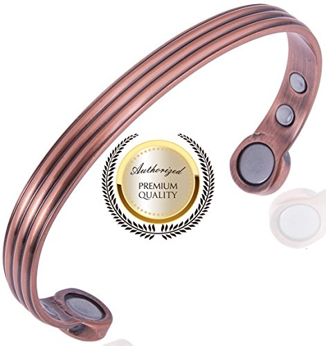PINTI - Pulsera de cobre puro auténtico, magnética y curativa para a