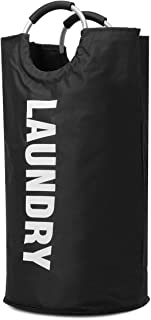 TT WARE Waterproof Folding Clothes Storage Baskets Washing Bag Basket Clothing Box Outdoor Travel-Black