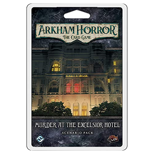 Arkham Horror The Card Game Murder at the Excelsior Hotel SCENARIO PACK   Horror Game   Cooperative...