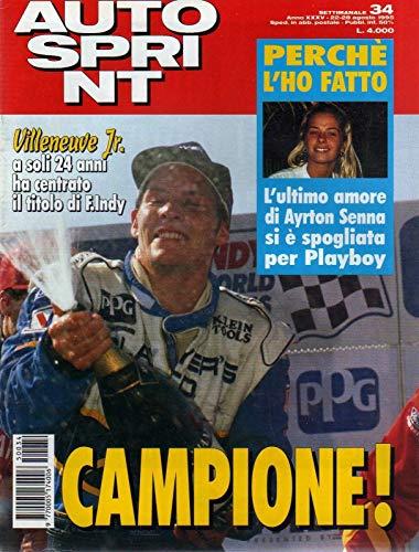 Autosprint Auto Sprint 34 del 22-28 Agosto 1995 Adriane Galisteu - Ayrton Senna
