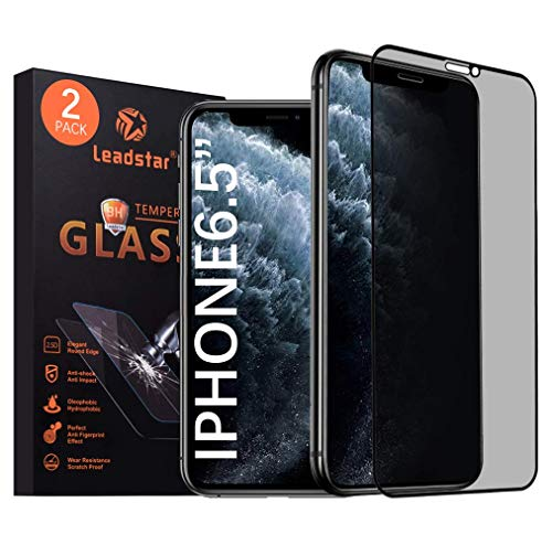 Leadstar Compatible IPhone 11 Pro Max And IPhone XS Max Privacy Screen Protector 6.5 Inch Premium 3D Touch Anti Spy Tempered Glass Screen Protector for IPhone 11 Pro Max 2019 New Release