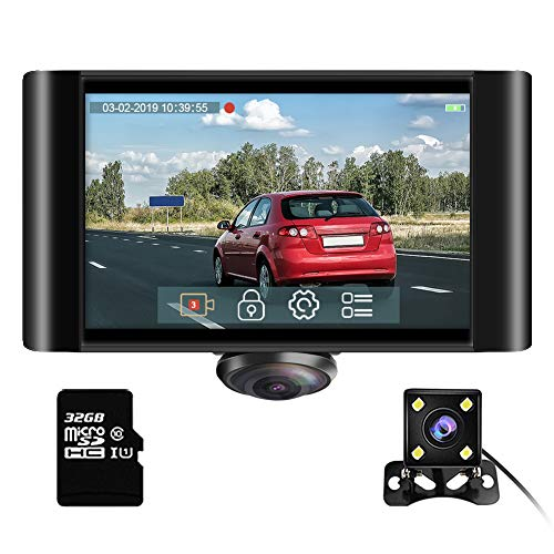 AKASO 360 Degree Dash Camera for Cars - 2K Full View Dual Dash Cam Front and Rear Car DVR Dashboard...