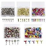 WANDIC Mini clavos, 500 piezas de metal de cierre de papel cabeza de perla...