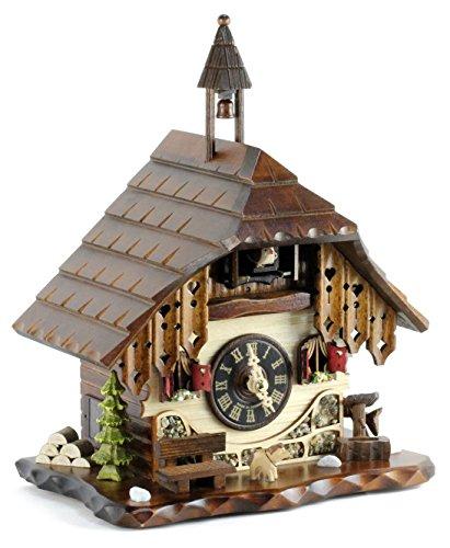 Eble 22307 - Reloj de cuco (mecanismo de cuarzo, funciona con pilas, 28 cm)