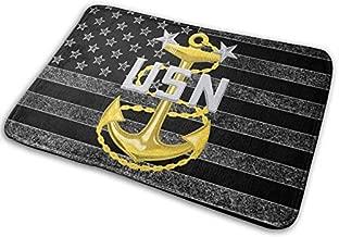 US Navy Master Chief Petty Officer (MCPO) Military Veteran Served Doormat Print Non-Slip Bath Mat Rug for Indoor, Floor Mat, Welcome Entrance Door Mats 15.7 x 23.6 in