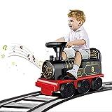 FXQIN Coches para ninos Ride-on Tren Ride on Car con Luces LED, Sonidos realistas y Pedales Christmas Train Set Tren de Juegos para Niños Tren Eléctrico para Niños