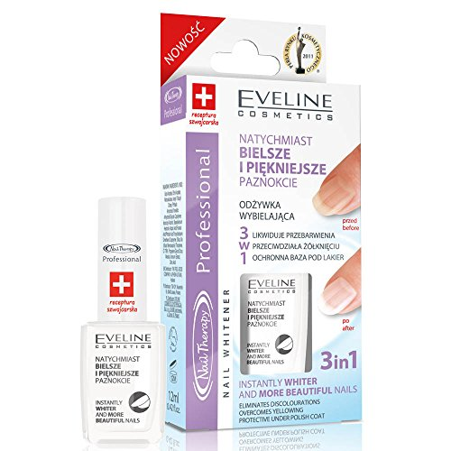 Eveline Fingernagel-Aufheller, 3in 1, gegen Verfärbungen, 12ml