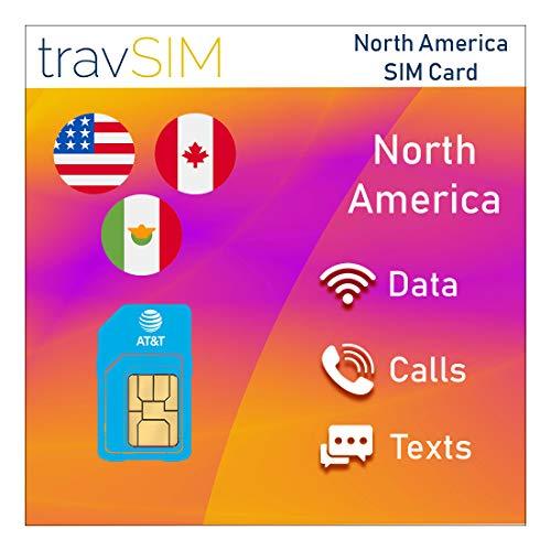 travSIM - AT&T USA SIM-Karte für 21 Tage - 22GB 3G 4G LTE Mobile Data mit unbegrenzten Anrufen & Texten - United States AT&T US SIM-Karte (funktioniert auch in Kanada & Mexiko)