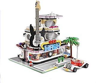 General Jim's Street View Creator Building Blocks Toy Set - City Block Center - Music Store & Car Wash Toy Bricks