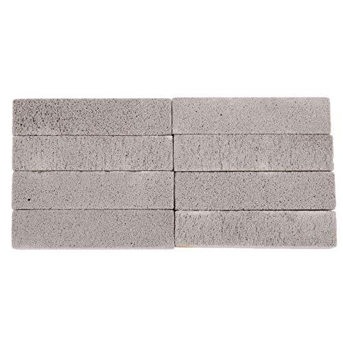 WANWE 8 Piezas de Piedras PóMez para Limpiar la Almohadilla para Fregar Piedra PóMez Limpiador en Barra de Gris para Quitar la Taza del Inodoro Anillo BaaO Hogar Cocina Piscina