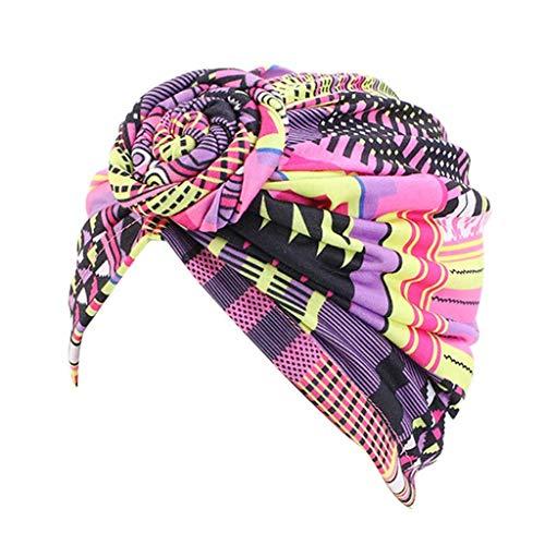 SHYPT Cap de Cabello de patrón de Flores Mujeres Turbante Turbante Pañuelo de Las señoras de Pelo Accesorios de Estilo (Color : Type 2)