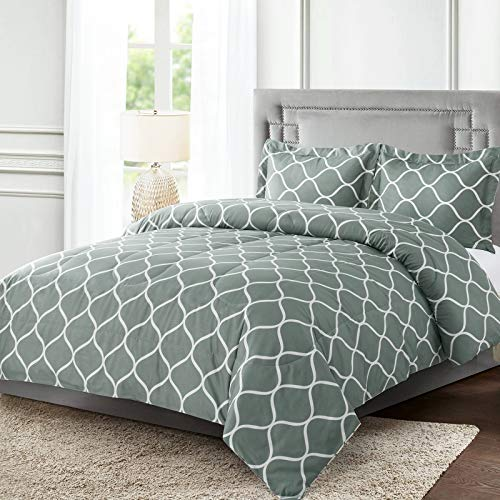 Shatex Comforters for Queen Bed 3 Pieces Bedding Comforter Sets Printed Comforter Set– Ultra Soft 100%  Microfiber Polyester – Rio Comforter with 2 Pillow Shams $15.2