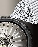 Uchidodo Speichenreflektoren Set zugelassen I 360° Sichtbarkeit - einfache Montage - Speichenreflektoren Fahrrad (72 Stück)