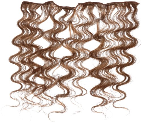 American Dream - A4/QFC12/18/10 - 100 % Cheveux Naturels - Douce Ondultation - Pièce Unique Extensions à Clipper - Couleur 10 - Blond Cendre Moyen - 46 cm