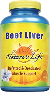 Nature's Life Beef Liver, Defatted & Dessicated,   1500 Mg, 100 Capsules