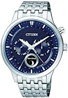 CITIZEN Mens Solar Powered Watch, Analog Display and Stainless Steel Strap AP1050-56L