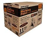 Rust-Oleum 266599 Professional 2X Distance Inverted Marking Spray Paint 15 Oz, Fluorescent Red Orange, Contractor 12 Pk