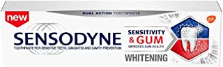 Sensodyne Sensitivity & Gum Whitening Toothpaste, Toothpaste for Sensitive Teeth & Gum Problems, 3.4 Ounces