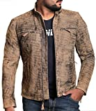 Laverapelle Men's Genuine Lambskin Leather Jacket (Lamb-Jungle, Extra Small, Cotton Lining) - 1501225