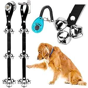 BLUETREE Dog Doorbells Premium Quality Training Potty Great Dog Bells Adjustable Door Bell Dog Bells for Potty Training Your Puppy The Easy Way – 7 Extra Large Loud 1.4 DoorBells