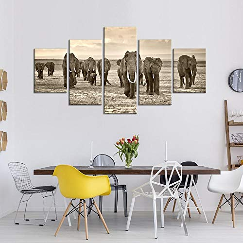 Canvas Painting Group Icon Opere d'Arte Moderna HD Wall Art Canvas Painting en Printer Picture Wall for Living Room Bedroom Home Decorations 100 cm (larghezza) x55cm (altezza) Geen frame.